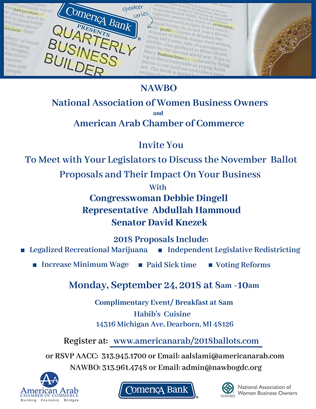 September 24th Complimentary meeting your Legislator Breakfast